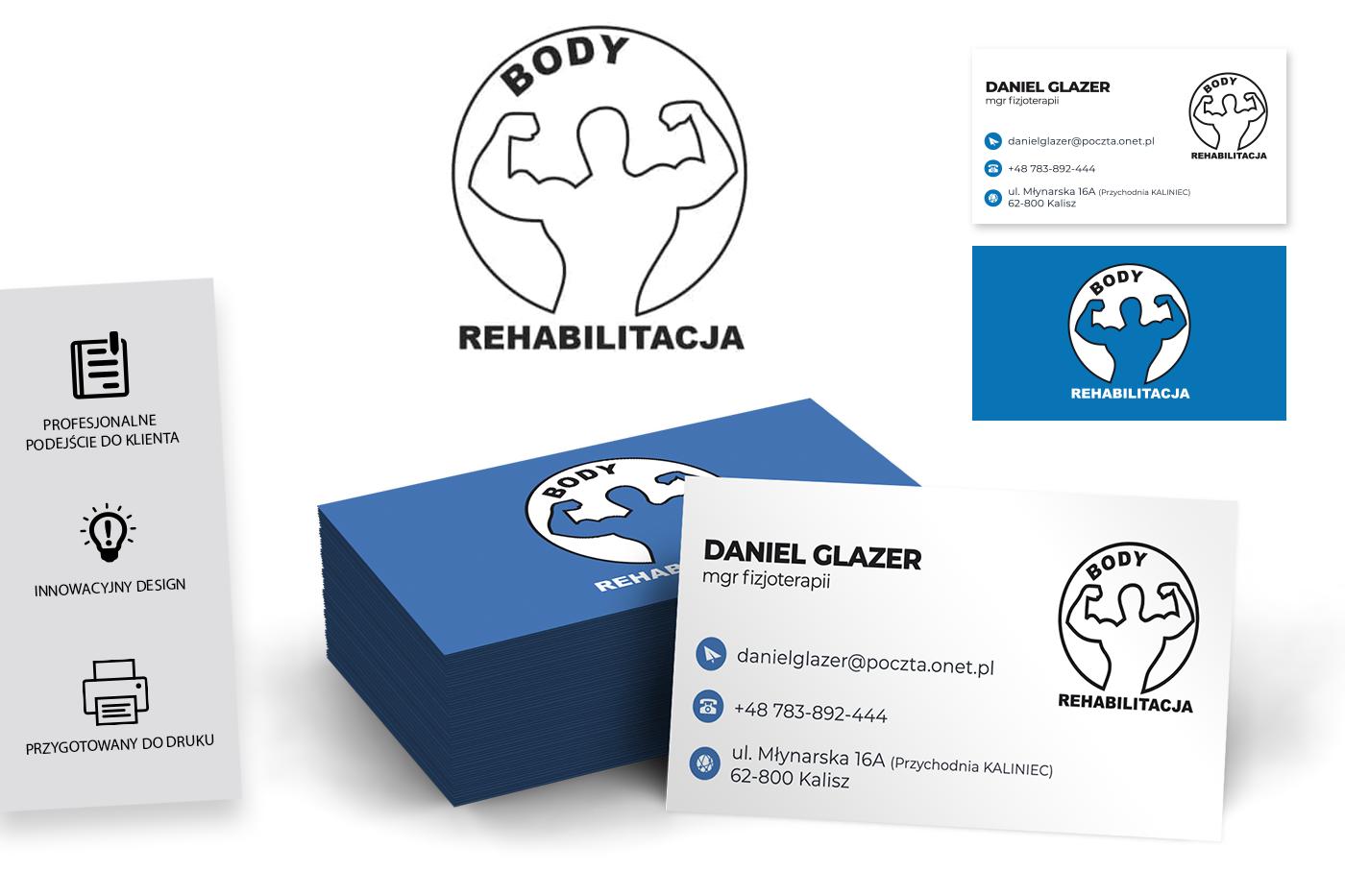 Body Rehabilitacja - Wizytówka Geek Imagination