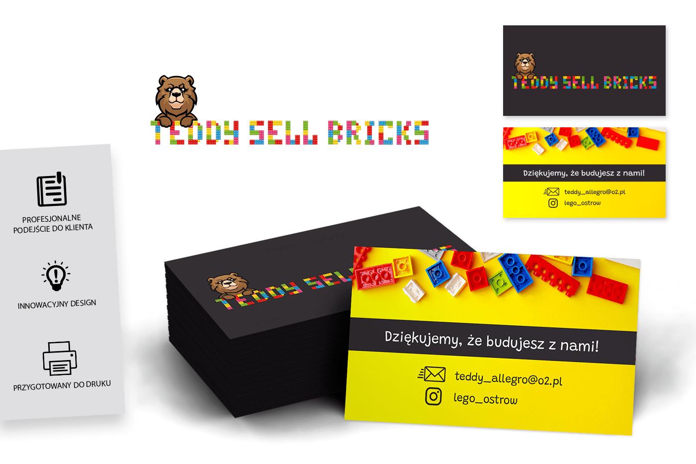 Teddy sell bricks - Wizytówka Geek Imagination