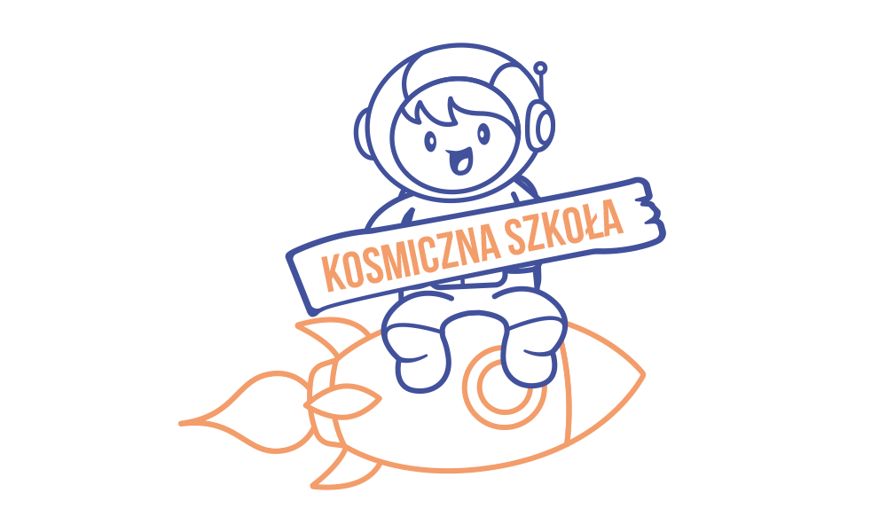 Grafika komputerowa Geek Imagination - Logo Kosmiczna Szkoła