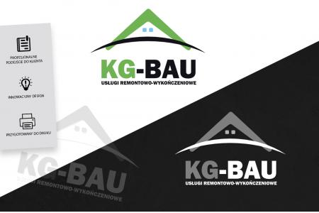 Portfolio - Grafika komputerowa Geek Imagination - Logotyp - Firma Remontowo-Wykończeniowa KG-BAU